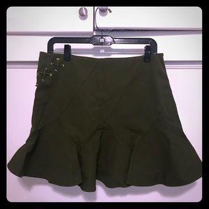 Military green skirt from Barney's New York